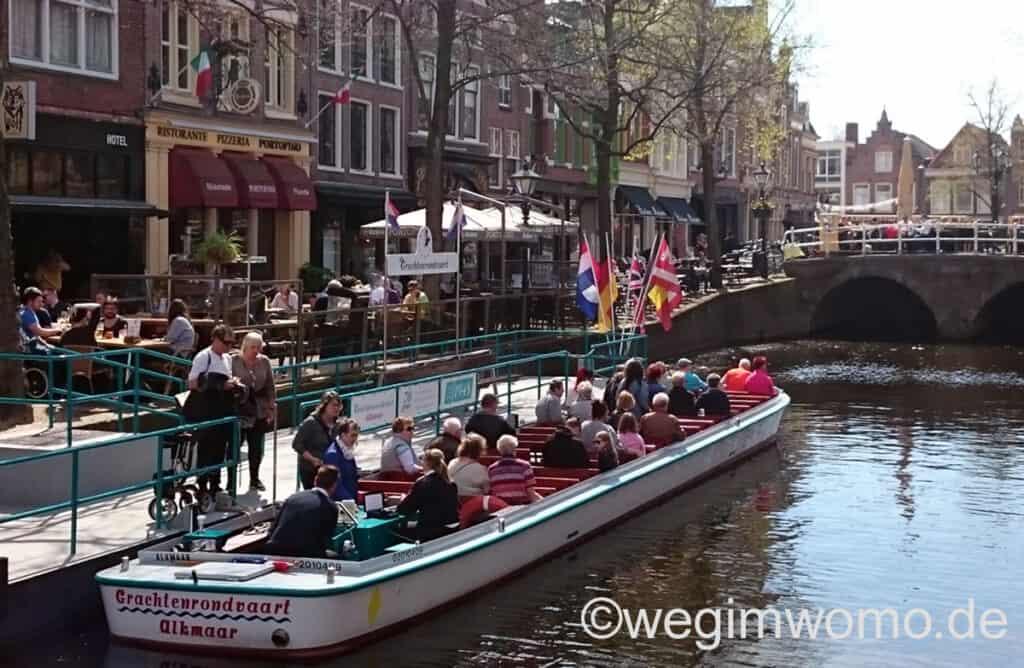 Grachtenfahrt in Alkmaar